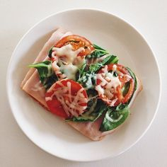 Pin for Later: Open-Faced Sandwich Ideas to Help You Cut Calories Turkey and Tomato