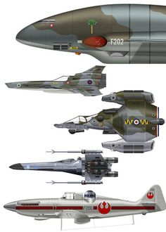 Spaceships painted as WWII fighters and viceversa. ★ || *Please support the artists and studios featured here by buying this and other artworks in their official online stores • Find us on www.facebook.com/CharacterDesignReferences | www.pinterest.com/characterdesigh | www.characterdesignreferences.tumblr.com | www.youtube.com/user/CharacterDesignTV and learn more about #concept #art #animation #anime #comics || ★