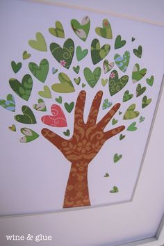 Items similar to The Giving Tree x Cut Paper Art on Etsy - Valentine crafts for kids - Projects For Kids, Crafts For Kids, Arts And Crafts, Paper Crafts, Tree Crafts, Preschool Crafts, Clay Projects, Project Ideas, Family Art Projects
