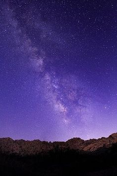 The Milky Way in Purple Sky