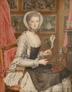 Marie Christine of Austria, Self-Portrait, c. 1765