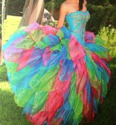 vestidos de xv de colores | vestido xv varios colores 2 000 mx bonito vestido de xv anos en buen ...