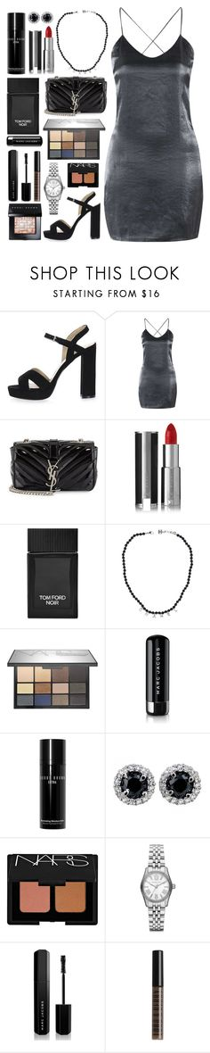 """""""Number 233"""" by charlene-ndy ❤ liked on Polyvore featuring Topshop, Yves Saint Laurent, Givenchy, Tom Ford, Chanel, NARS Cosmetics, Marc Jacobs, Bobbi Brown Cosmetics, Michael Kors and Lord & Berry"""