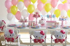 Deco cumple Kitty