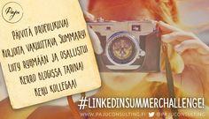 LinkedIn Summer Challenge - tee profiilin vuosihuolto