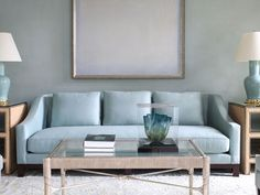 Blue Rooms - Decorating with Blue - Good Housekeeping. I love this sofa.