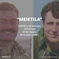 This British Hero WOD is a tribute to Lance Bombardier Ross Clark and Lance Bombardier Liam 'Paddy' McLaughlin, both 148 (Meitkila) Commando Forward Observation Battery, 29 Commando Regiment, who gave their all in Sangin, Helmand province, Afghanistan on 3/3/2007. LBdr Clark and LBdr McLaughlin manned a fire support tower to try to spot the enemy when the Taliban fired a rocket-propelled grenade (RPG) at the tower. The grenade exploded and both men were sadly killed by the blast. Wod Workout, Workout Posters, Travel Workout, Workout Challenge, Fit Board Workouts, Easy Workouts, Wods Crossfit, Fitness Goals, Health Fitness