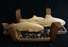 Coffee Table – Salmon Sculpture and Glass 9