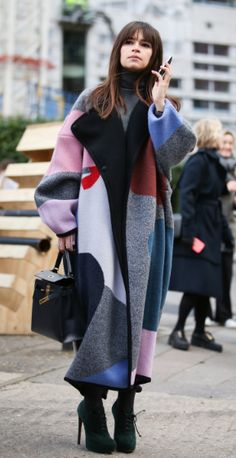 The big oversized graphic coat