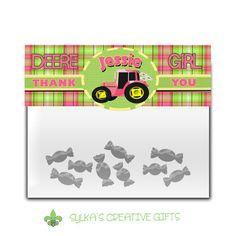 Gift bag toppers-diy-custom-personalized-john deere girl-jd girl-deere girl-tractor girl