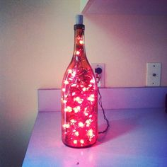 Repurposed wine bottle