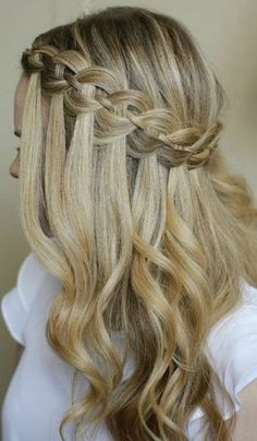 Four Strand Waterfall Braid.