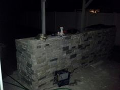 Bar stone going in