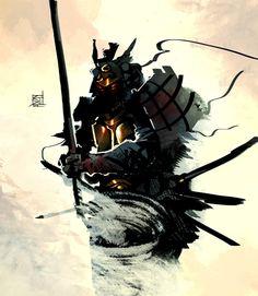 Samurai by Samuel Johnson Kabuto Samurai, Samurai Weapons, Samurai Warrior, Fantasy Warrior, Fantasy Art, Art Of War Quotes, Warrior Paint, Samurai Artwork, Samurai Drawing