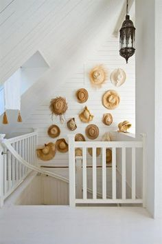 Collect beach hats when on holiday and use as decor