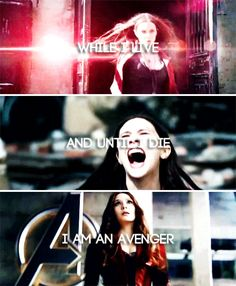 """While I live and until I die, I am an Avenger"" - actual quote from 616 Scarlet Witch aka Wanda Maximoff"