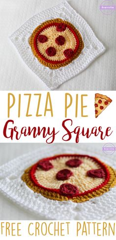 Pizza Pie Crochet Granny Square | Free Pattern from Sewrella