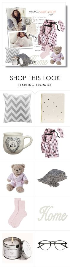 """""""Staycation"""" by bombaysapphire ❤ liked on Polyvore featuring Wildfox, Intelligent Design, Sugar Paper, Natural Life, Victoria's Secret, Lexington, Bedford Cottage, Johnstons of Elgin, M&Co and Stoneglow"""