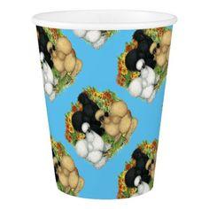 #Flower Garden Silkies Paper Cup - #flower gifts floral flowers diy