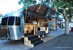Straight Down's custom-designed Airstream pop-up retail shop