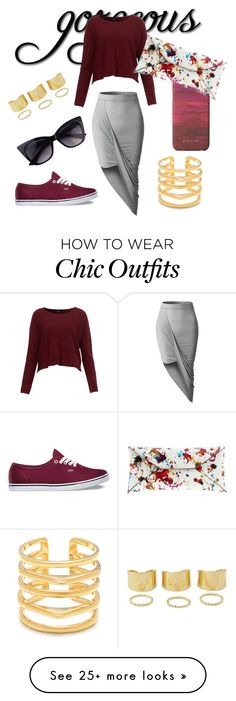 """""""Gorgeous chic look"""" by mia589 on Polyvore featuring LE3NO, Vans, Jigsaw, VBH and Stella & Dot"""