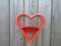 1  Red Heart Garden Hose Reel Holder by TheTownTinker on Etsy, $55.00