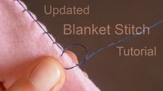 A few people have been asking for an updated blanket stitch tutorial, because the way I do my blanket stitch has changed a little since my last video. Hope y...