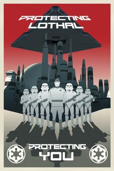 Here's a fun set of propaganda posters that were created for the new animated series, Star Wars Rebels. The posters feature the Inquisitor, Imperial Star Destroyers, and a few recruits that will help propel The Empire forward with their mission of ruling the galaxy.