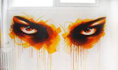 Grafiteiro espalha olhares pelas ruas pra convidar pessoas a abrirem os olhos --- Hypeness - Inovação e criatividade para todos.