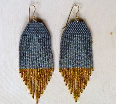 Gold Iris Dipped Earrings by wildmintjewelry on Etsy