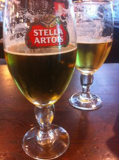 Drinking Stella at the brewery in St. Louis with my brother....priceless.