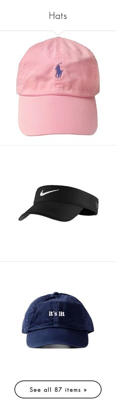 """""""Hats"""" by power-beauty ❤ liked on Polyvore featuring accessories, hats, headwear, pink hat, pink cap, caps hats, mens, nike golf cap, nike golf hats and nike golf"""
