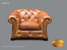 Chesterfield 1 asiento</br>Devon 1 Roble dorado