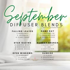 Essential Oil Recipies, Fall Essential Oils, Essential Oil Diffuser Blends, Essential Oil Uses, Humor, September, Young Living, Fall Season, Diffuser Recipes