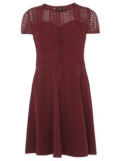 Cranberry Lace Top Dress