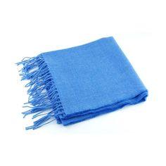Powder Blue Lightweight Wool Scarf