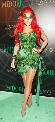 Female Villain Costumes poison ivy | Sexy Poison Ivy Batman Halloween 2014, Cool Halloween Costumes, Halloween Cosplay, Happy Halloween, Halloween Decorations, Mother Nature Costume Halloween, Poison Ivy Halloween Costume, Best Celebrity Halloween Costumes, Halloween Outfits