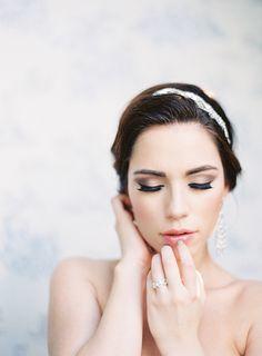 Photography: Marissa Lambert | Hair: Ginger Dickey | Headpiece: Sarah Gabriel | Makeup: Melissa Vaccaro | Styling: Mrs. Vintage