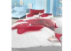 Lenjerii de pat 3 D : Lenjerie de pat bumbac satinat 3D Valentine pentru 2 persoane     Lenjerii de pat