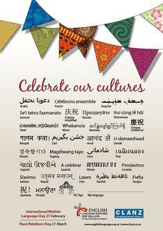 Somali, Burmese, Posters, Culture, Teaching, Languages, Free, Image, Maori