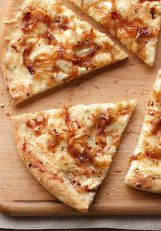White & Gold Pizza — The caramelized onions bring the gold; the super-easy, creamy cheese sauce contributes the white. You may even lose the delivery guy's number.