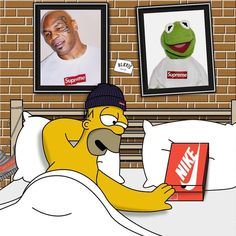 Supreme Nike Simpson Flow pinterest: ADC