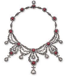 A DIAMOND AND RUBY NECKLACE Price realised CHF 117,500 Estimate CHF 100,000 - CHF 130,000