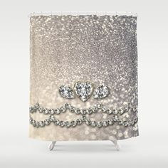 Diamonds and sparkles I Shower Curtain