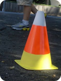 paint an orange cone from the sporting goods store with craft paint!