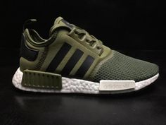 086108eca Cheap Men Adidas Originals NMD R1 Military Green White BB6788