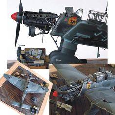 Junkers Ju 87 B-2 Stuka Hasegawa's 1/48 scale By Charles Whall From: hyperscale #hasegawa #junkers #stuka #scalemodel #plastimodelismo #war #guerra #guerre #bataille #modelismo #plasticmodel #plastimodelo #plastickits #usinadoskits #udk #miniatura #miniature #maqueta #maquette #modelismo #modelism #modelisme #diorama #dio