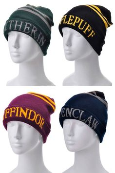 Harry Potter 4 Houses Knit Hat //Price: $15.99 & FREE Shipping… Maybe something for https://Addgeeks.com ?