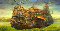 Otherworldly Vehicles In Oil Paintings By Lithuanian Artist Modestas Malinauskas   Bored Panda