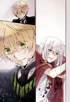 Pandora hearts coloured page. Oz and Echo :(